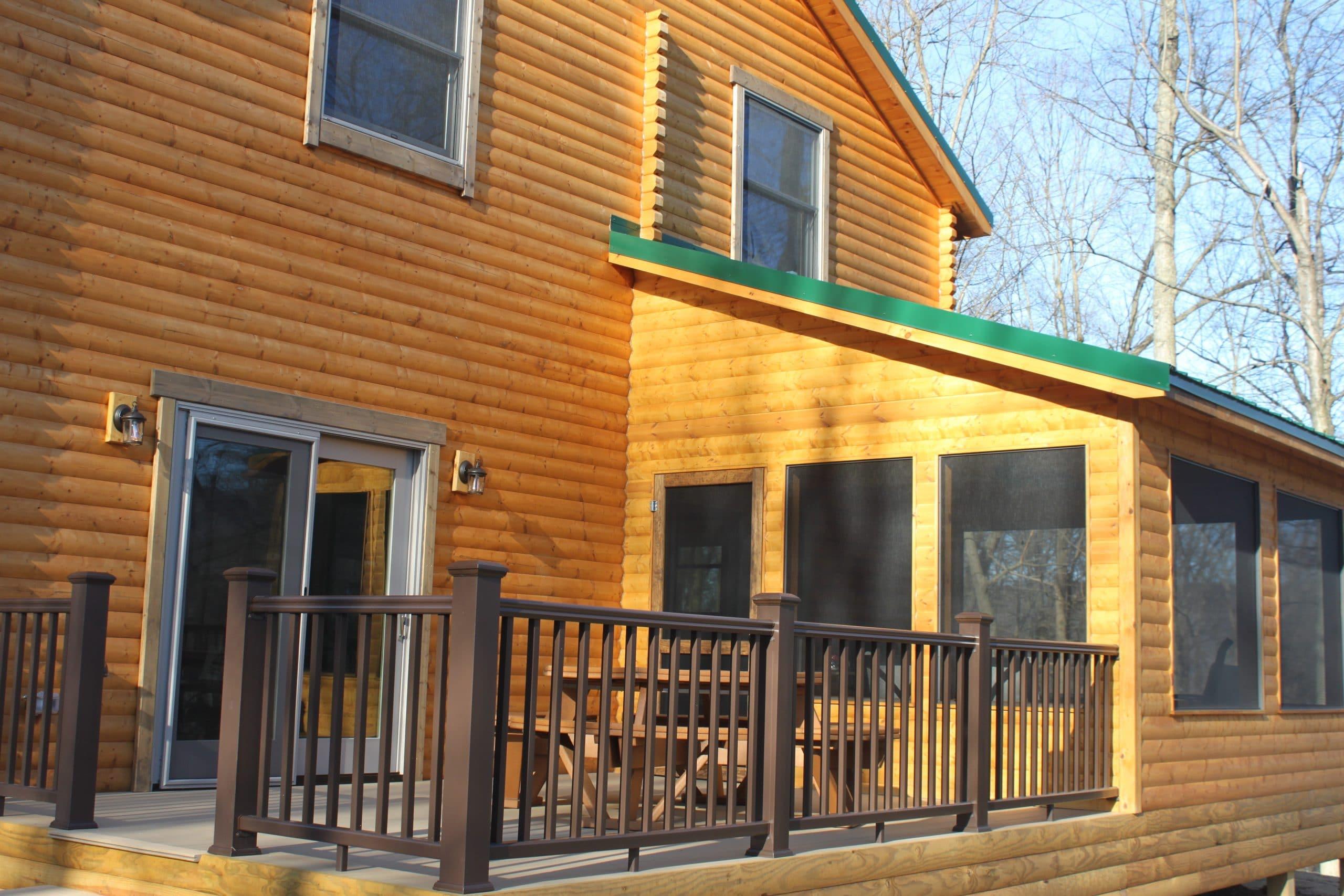 bear den log home deck