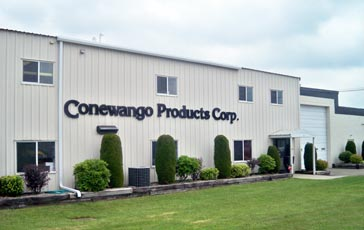 In September of 2009 Conewango Products Corp. moved into their new location at 1890 Lyndon Boulevard in Falconer, NY.