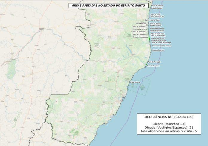 Óleo ainda atinge sul da Bahia e chega a mais praias do Espírito Santo: passam de 500 as localidades afetadas em todo litoral