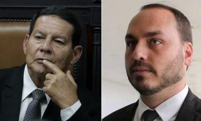 """Mourão afirma que Carlos Bolsonaro sumiu: """"Alguém disse chega"""" 25"""