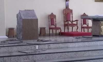 Homem é preso no Rio após depredar altar de igreja cristã com golpes de marreta 26