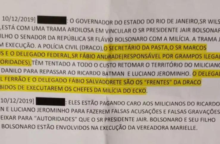 Presidência recebe denúncia de que Witzel atua para incriminar Bolsonaro 21