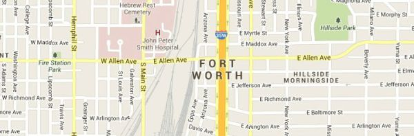 Map of Fort-Worth-Texas-Service Area