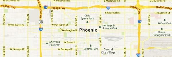 Map of Phoenix-Arizona service area
