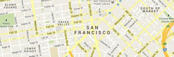 Map of San-Francisco-California-service area