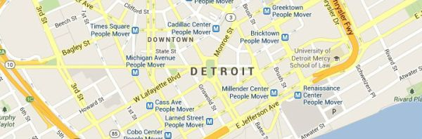 Map of Detroit-Michigan-Service Area