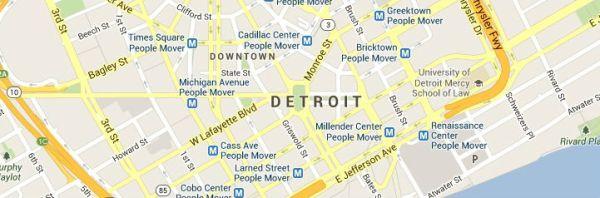 Map of Detroit-Michigan-Service Area