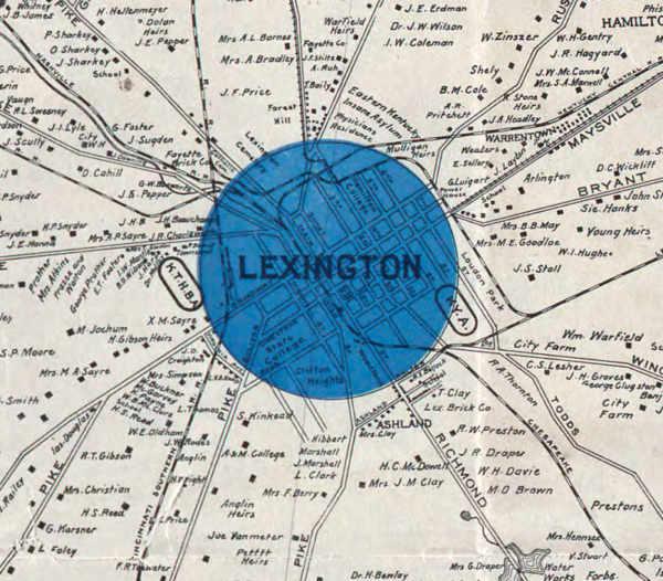 Lexington KY Map
