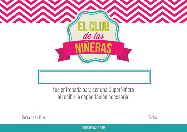 El Club de las Niñeras - experiencia #6 de Buenas Obras - Conexión SUD