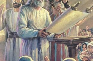 Los del pueblo se regocijan cuando Esdras les lee las Escrituras