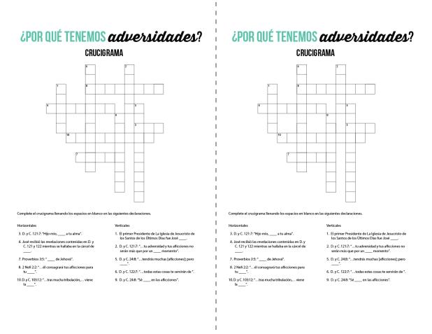 Por qué tenemos adversidades - Crucigrama - Conexion SUD