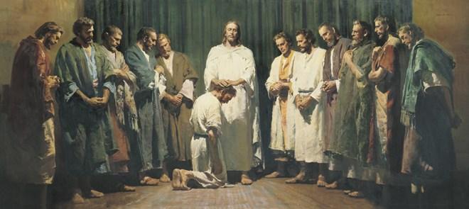 Jesus llama y ordena a los 12 apóstoles