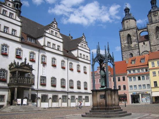 Vista da cidade de Wittenberg.