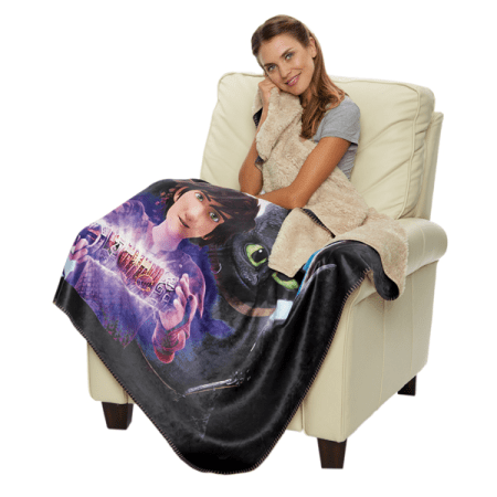 Sherpa Lined Micro Mink Adult Throw