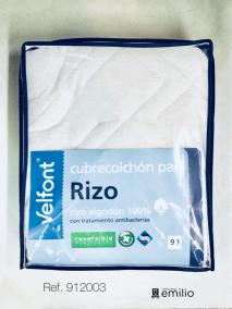 cubrecolchón rizo - tupido 100% algodón
