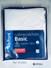 cubrecolchón acolchado - 100 % algodón