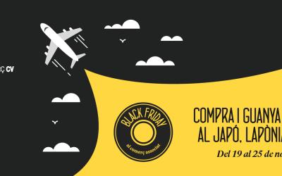 CONFECOMERÇ CV impulsa junto a sus organizaciones la campaña autonómica del black friday del comercio con el sorteo de un espectacular viaje a Japón, Laponia o Chile