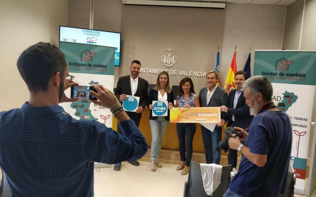 Confecomerç CV apoya la campaña del comercio del mueble y se congratula de la designación de València capital mundial del diseño 2022.