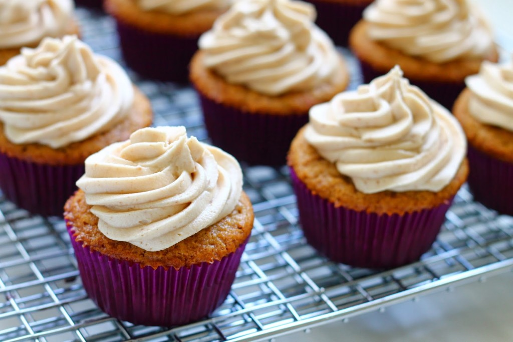 Brown Butter & Brown Sugar Cupcakes With Cookie Butter