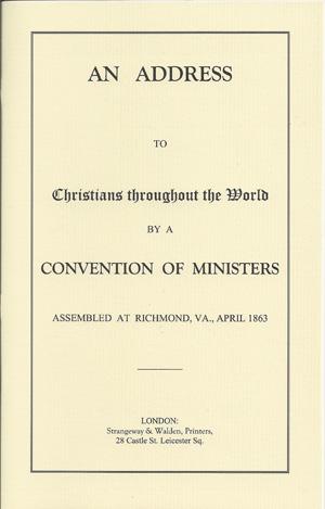 An Address to Christians