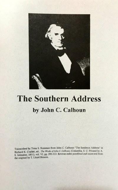 the southern address