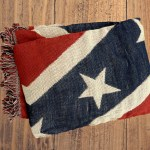 rebel flag blanket, woven throw, afghan.