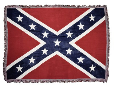 Woven rebel flag blanket rebelshop