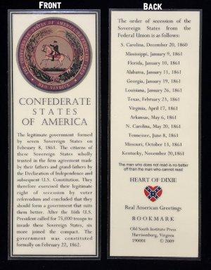 confederate seal bookmark