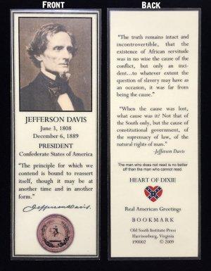 jefferson davis bookmark
