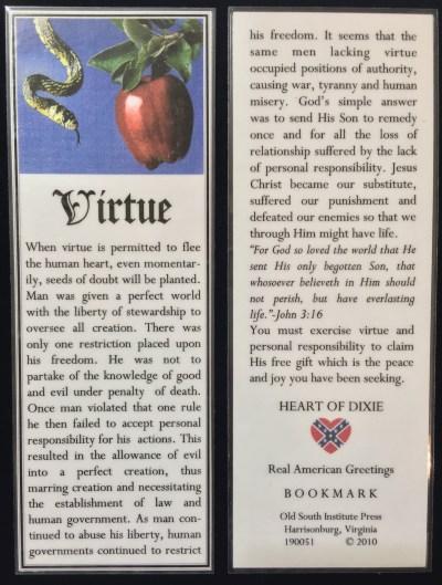 virtue bookmark