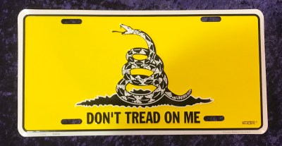dont tread on me, tea party flag license plate