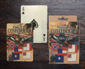 Confederate rebel playing cards
