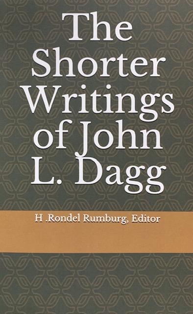 the shorter writings of john j. dagg