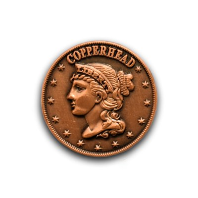 copperhead civil war lapel pin
