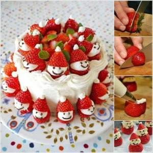 creative-ideas-diy-strawberry-santa-christmas-cake