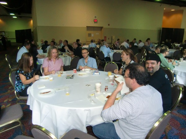 Networking and eating at Affiliate Summit.