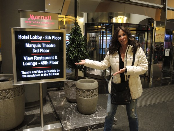 Missy Ward at the New York Marriott Marquis