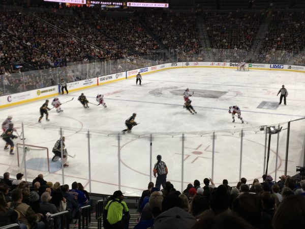 New York Rangers at Las Vegas Golden Knights during Affiliate Summit West 2018