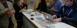 Charging station at Affiliate Summit