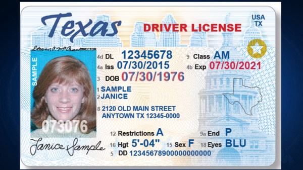 Real ID compliant drivers license