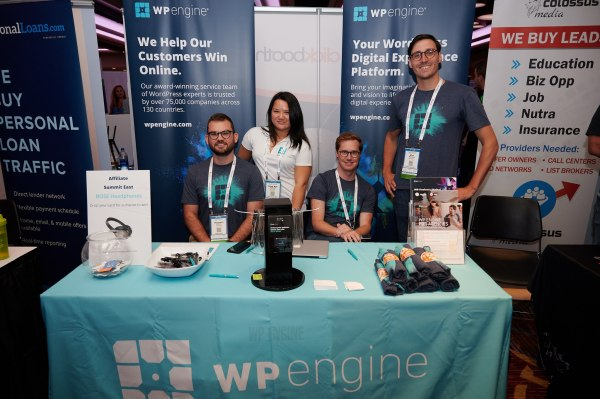 WP Engine booth at Affiliate Summit East 2019