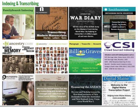 conferencekeeper genealogy volunteer opportunities