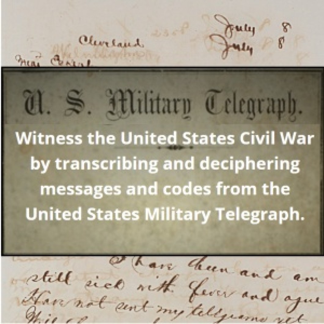 Genealogy Volunteer CivilWarTranscription