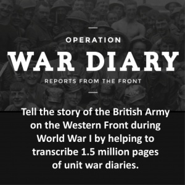 genealogy volunteer wwI war diaries