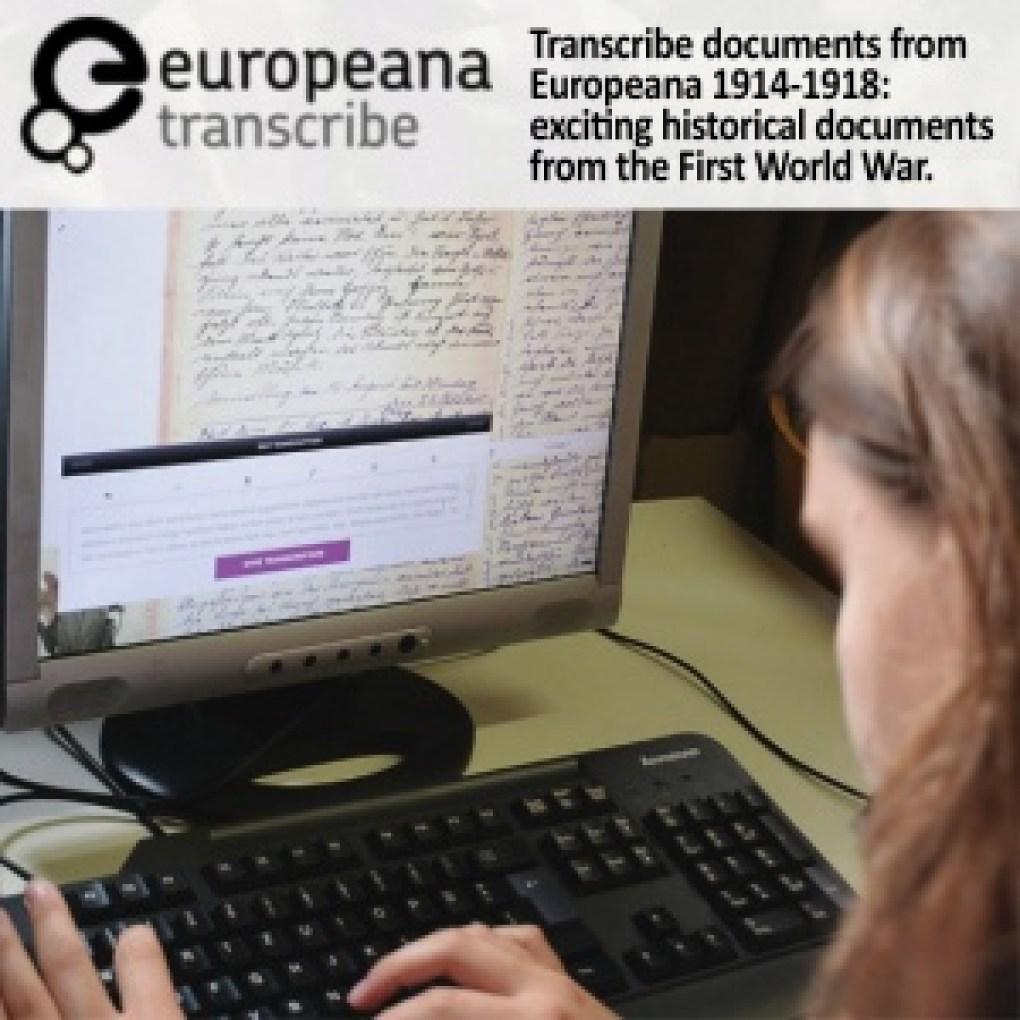 genealogy volunteer transcription WWI documents