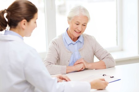 Woman learning about Medicare options