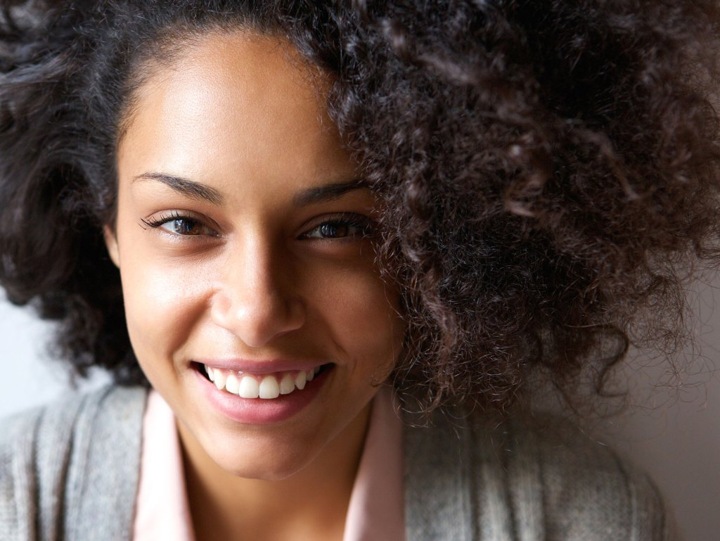 African American female smiling
