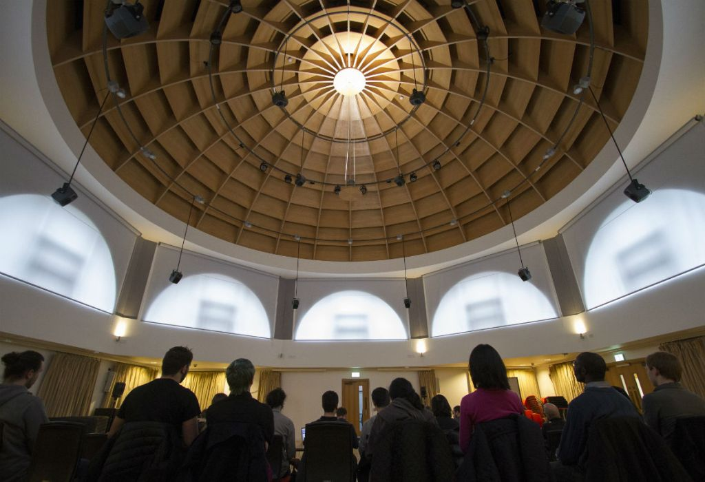 Conference delegates under the dome in The Bramall