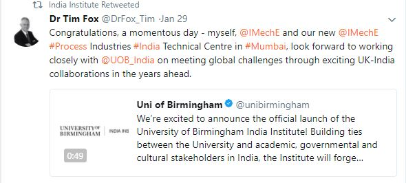 India institute twitter screenshot