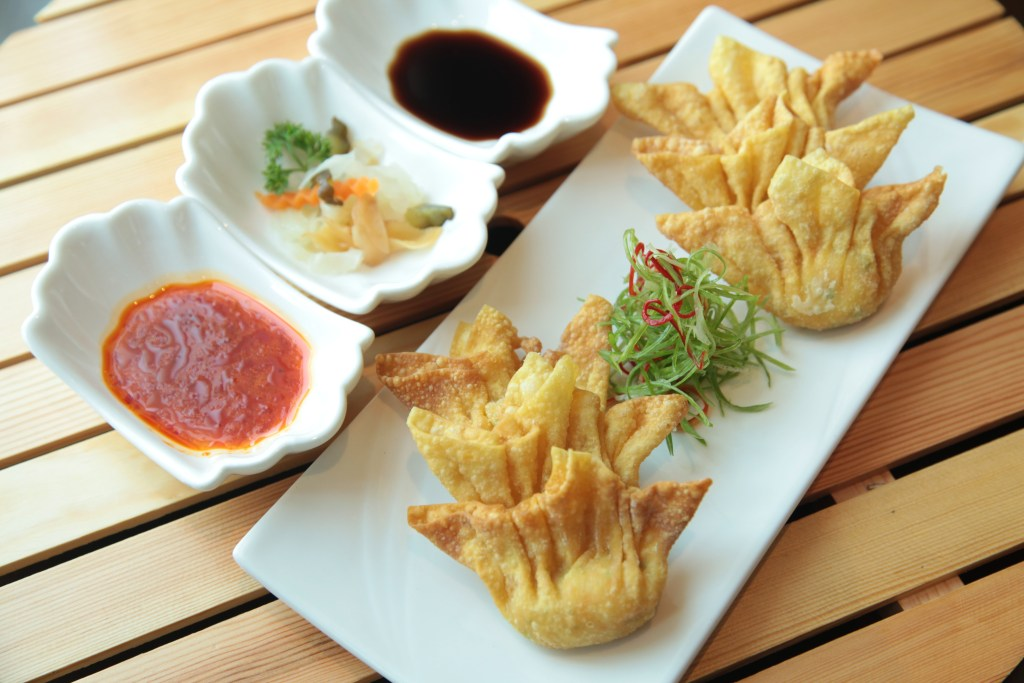 Dumplings and sauce
